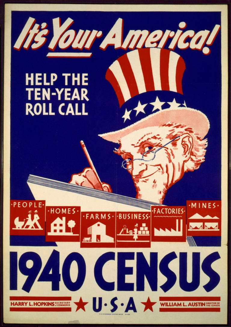 1940 US Census Poster